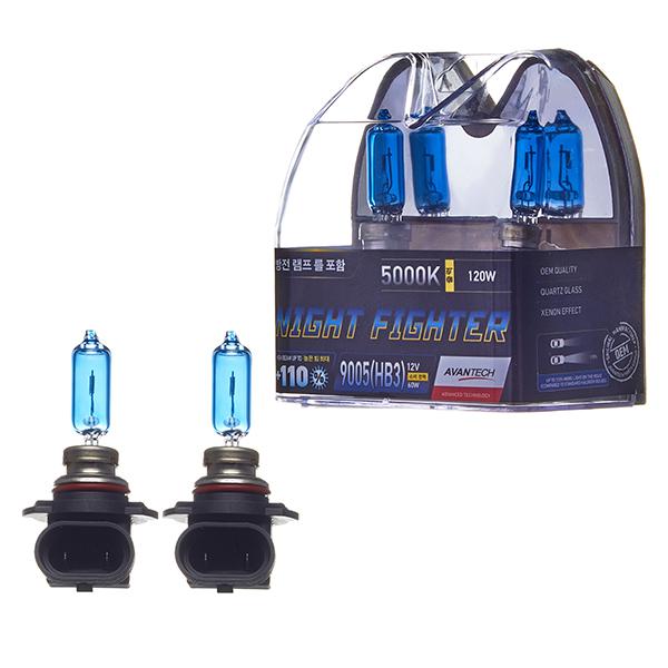 Лампа высокотемпературная Avantech HB3 12V 65W (120W) 5000K, комплект 2 шт.
