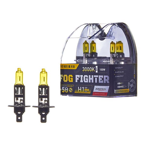 Лампа высокотемпературная Avantech H1 12V 55W (100W) 3000K, комплект 2 шт.