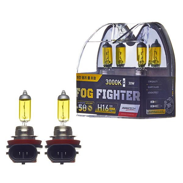 Лампа высокотемпературная Avantech H16 12V 19W (30W) 3000K, комплект 2 шт.
