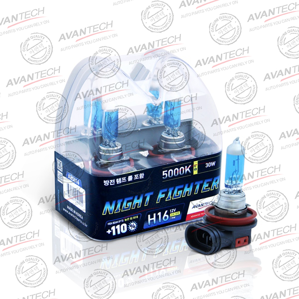 Лампа высокотемпературная Avantech H16 12V 19W (30W) 5000K, комплект 2 шт.