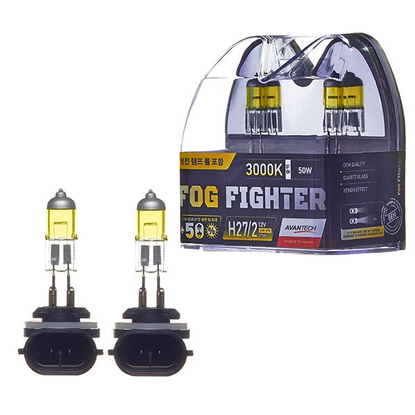 Лампа высокотемпературная Avantech H27/2 12V 27W (50W) 3000K, комплект 2 шт.