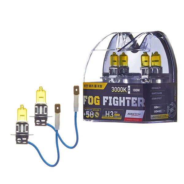 Лампа высокотемпературная Avantech H3 12V 55W (100W) 3000K, комплект 2 шт.