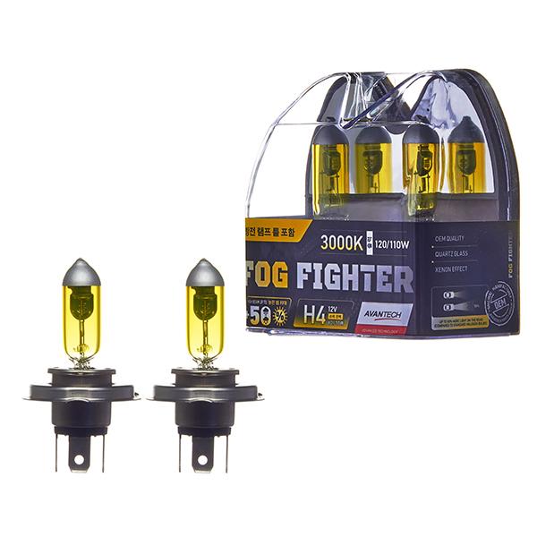 Лампа высокотемпературная Avantech H4 12V 60/55W (120/110W) 3000K, комплект 2 шт.