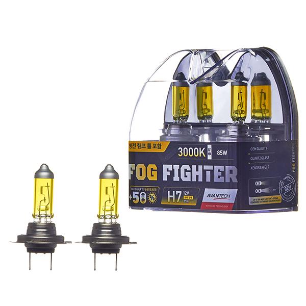 Лампа высокотемпературная Avantech H7 12V 55W (85W) 3000K, комплект 2 шт.