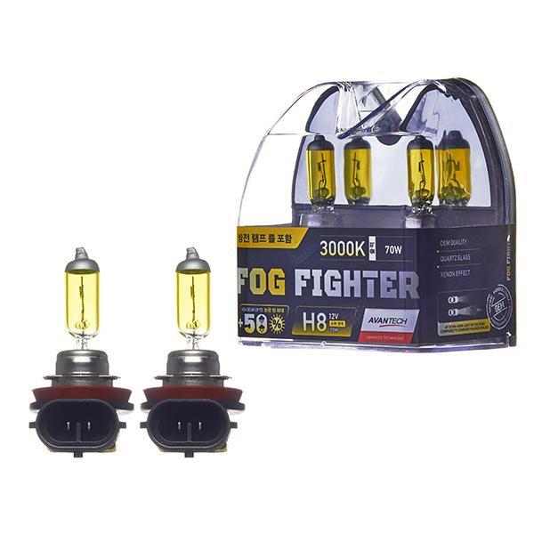 Лампа высокотемпературная Avantech H8 12V 35W (70W) 3000K, комплект 2 шт.