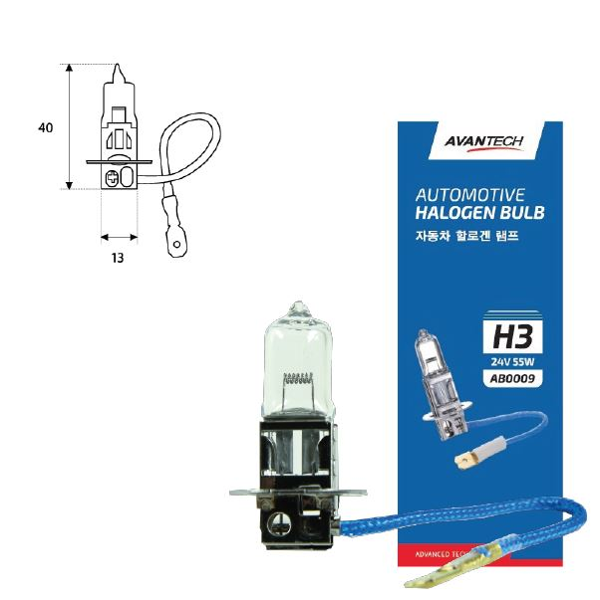 Лампа головного света Avantech H3 24V 55W