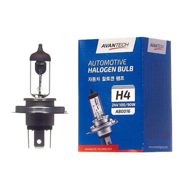 Лампа головного света Avantech H4 (HB2) 24V 100/90W