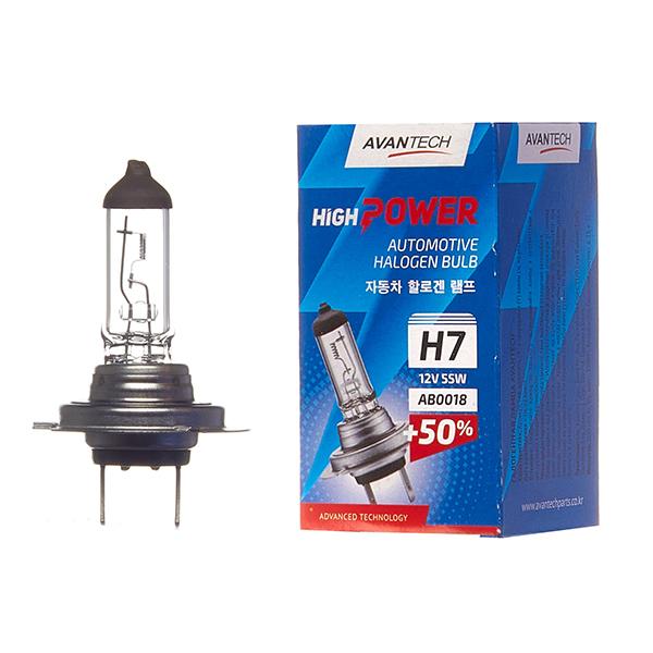 Лампа головного света Avantech H7 12V 55W