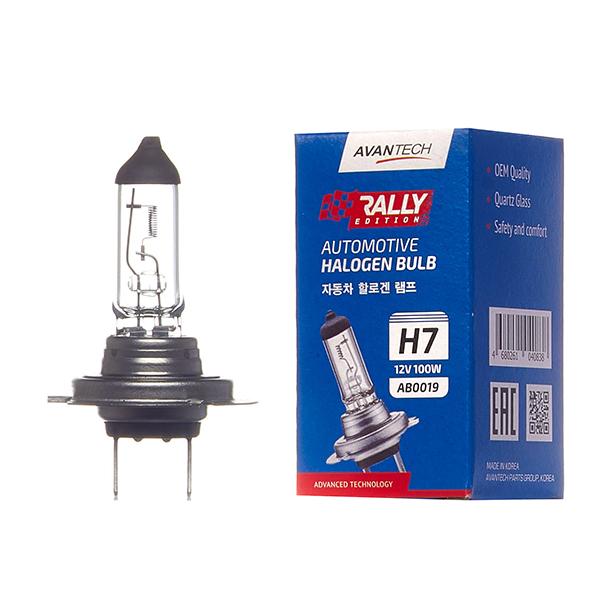 Лампа головного света Avantech H7 12V 100W