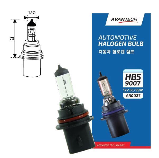 Лампа головного света Avantech 9007 (HB5) 12V 65/55W