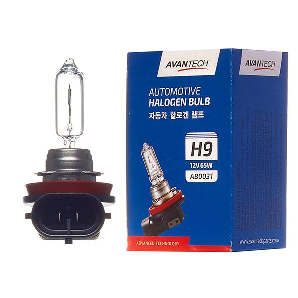 Лампа головного света Avantech H9 12V 65W