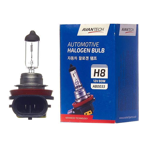 Лампа головного света Avantech H8 12V 80W