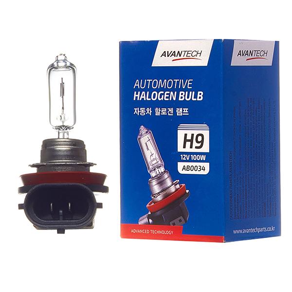 Лампа головного света Avantech H9 12V 100W