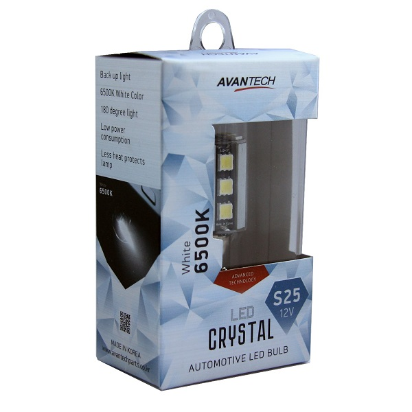 Лампа светодиодная Avantech 12V LED S25 BA15s 6500K, 1 шт.